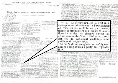 Décret du 23 décembre 1918